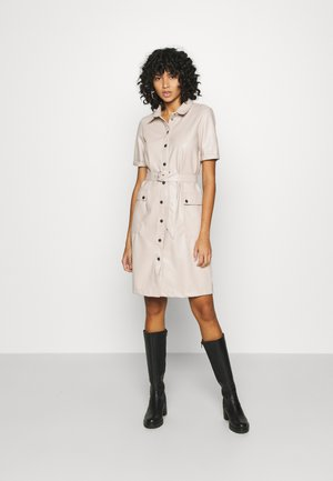 NMDUST DRESS - Shirt dress - taupe gray