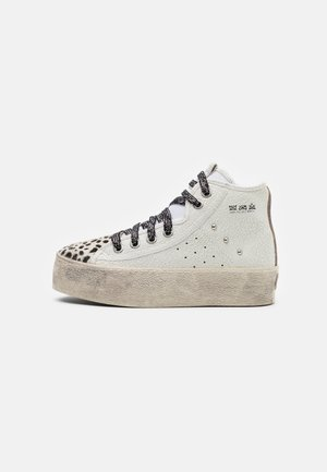High-top trainers - blanco