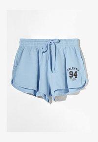 Bershka - MIT WAFFELSTRUKTUR - Shorts - dark blue - 5