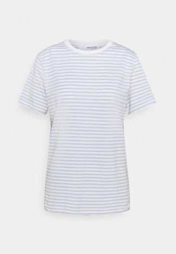 T-shirt z nadrukiem - arctic ice/snow white