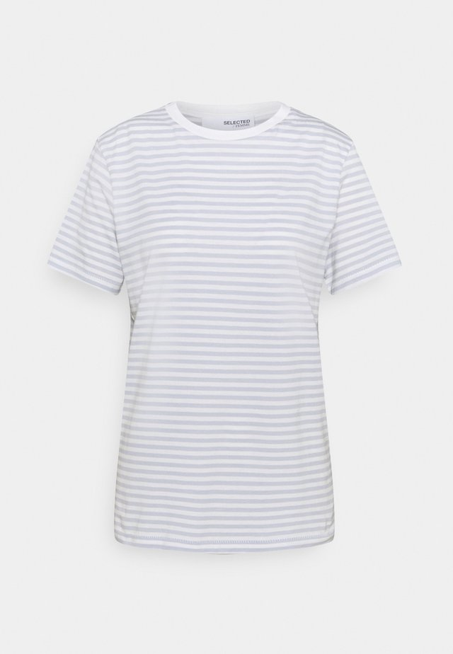 SFMY PERFECT TEE BOX CUT - T-shirt print - arctic ice/snow white