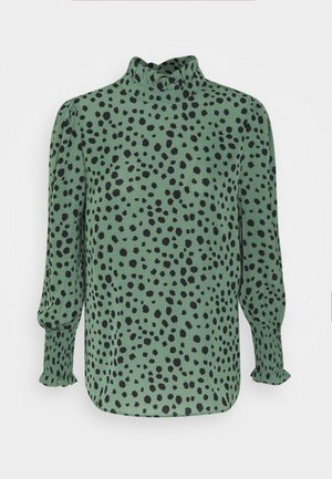 ONLJENNA HIGHNECK TOP  - Blus - chinois green/black