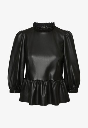 VMBUTTER LEE COATED SHORT - Blusa - black