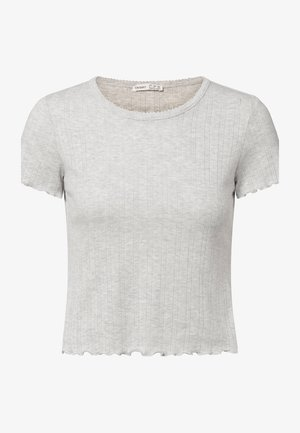 FRAYED - Pyjama top - light grey