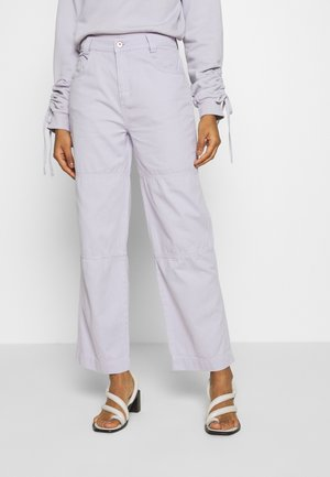 DRILL PANTS - Relaxed fit jeans - lilac