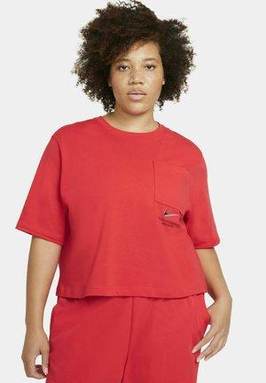 T-shirt print - light crimson/black