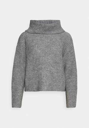 ROLL NECK JUMPER - Jumper - mottled grey