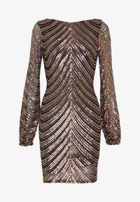 Club L London - SEQUIN BALLOON SLEEVE MINI DRESS - Vestido de cóctel - gold - 4