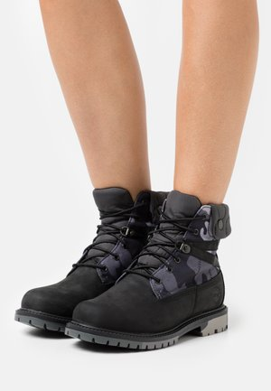 6 IN HERITAGE WP - Lace-up ankle boots - black