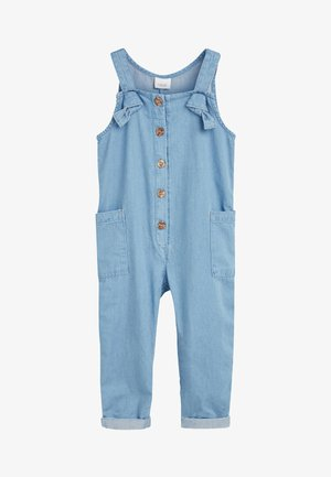 DENIM BLUE JUMPSUIT WITH HEADBAND (3MTHS-7YRS) - Mono - blue