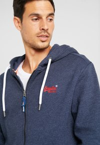 Superdry - ORANGE LABEL CLASSIC ZIPHOOD - Zip-up hoodie - midnight blue feeder - 4