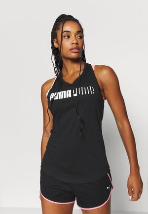 TRAIN LOGO CROSS BACK TANK - T-shirt de sport - black
