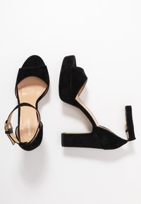 Anna Field - LEATHER HIGH HEELED SANDALS - High heeled sandals - black - 3