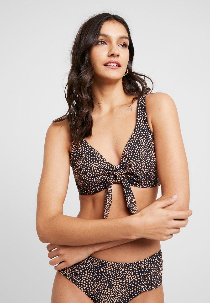 Seafolly - SAFARI SPOT CUPTANK - Bikini top - black