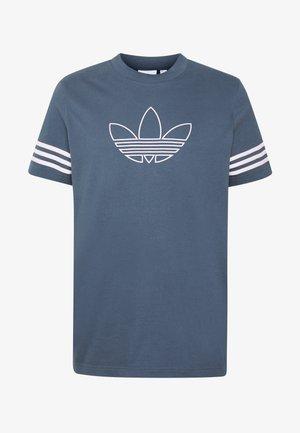 OUTLINE TEE - T-shirt imprimé - dark blue