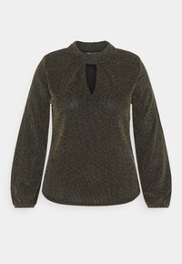 CAPSULE by Simply Be - GLITTER FASHION ESSENTIAL - Blouse - black/gold - 3