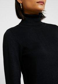 Saint Tropez - DRESS HIGH NECK - Abito in maglia - black - 6