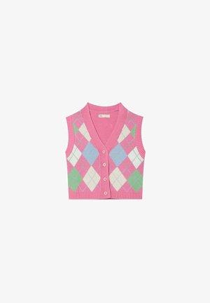 MIT KNÖPFEN - Waistcoat - pink