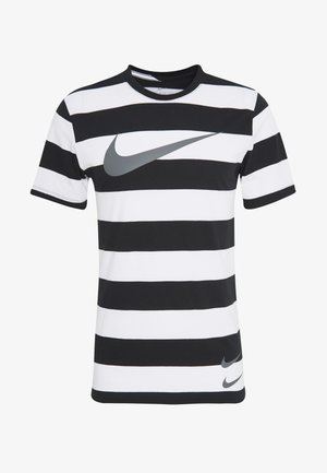 STRIPE TEE - Print T-shirt - white/black