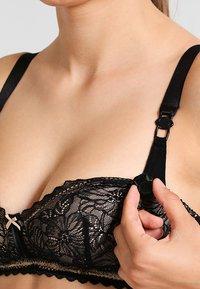 Cache Coeur - IRIS WIRE-FREE BREASTFEEDING - Podprsenka skosticemi - black - 4