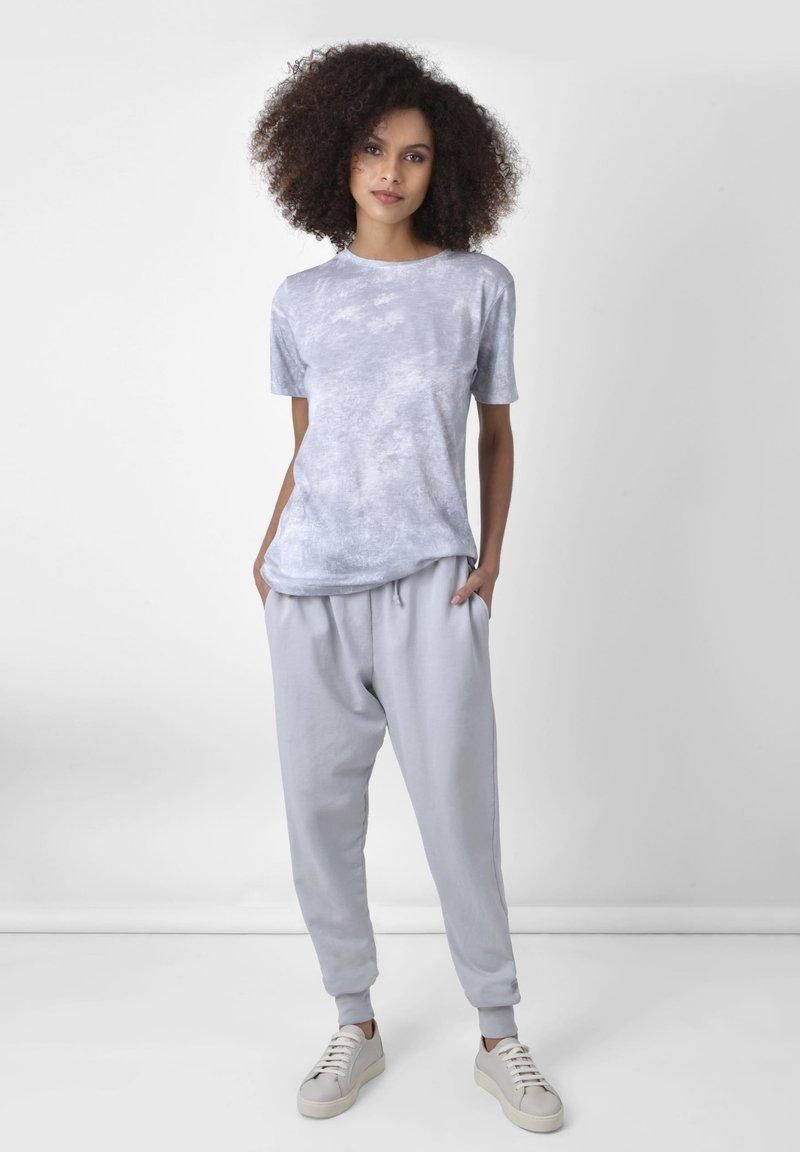 Ro&Zo - Print T-shirt - grey