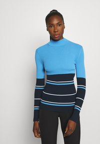 J.LINDEBERG - BERTHE STRIPED GOLF - Jumper - navy - 0