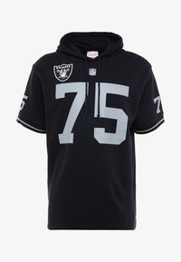 Mitchell & Ness - NFL NAME NUMBER HOODED SHORT SLEEVE - Sweat à capuche - black - 4