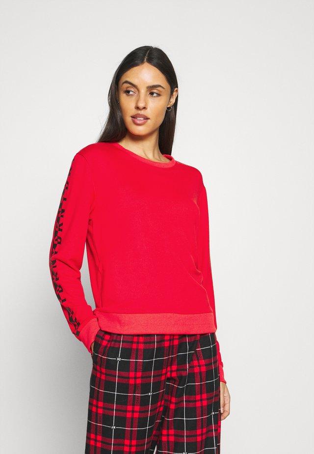 SLEEP TOP - Pyjama top - ruby