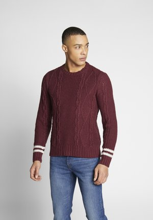 CABLE CREW - Jumper - burgundy