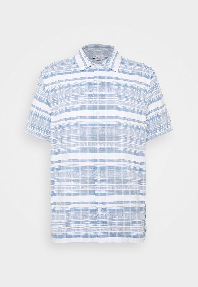 COFFEE STRIPED - Shirt - light blue