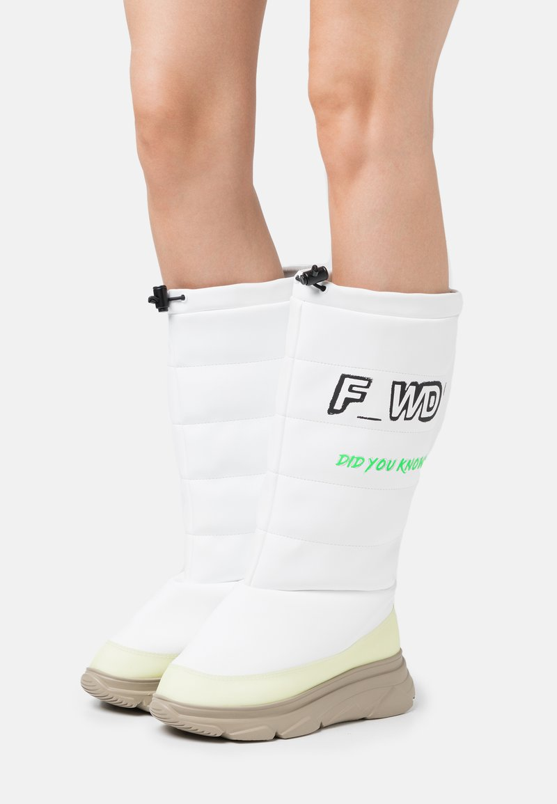 F_WD - Winter boots - white/parvel yellow