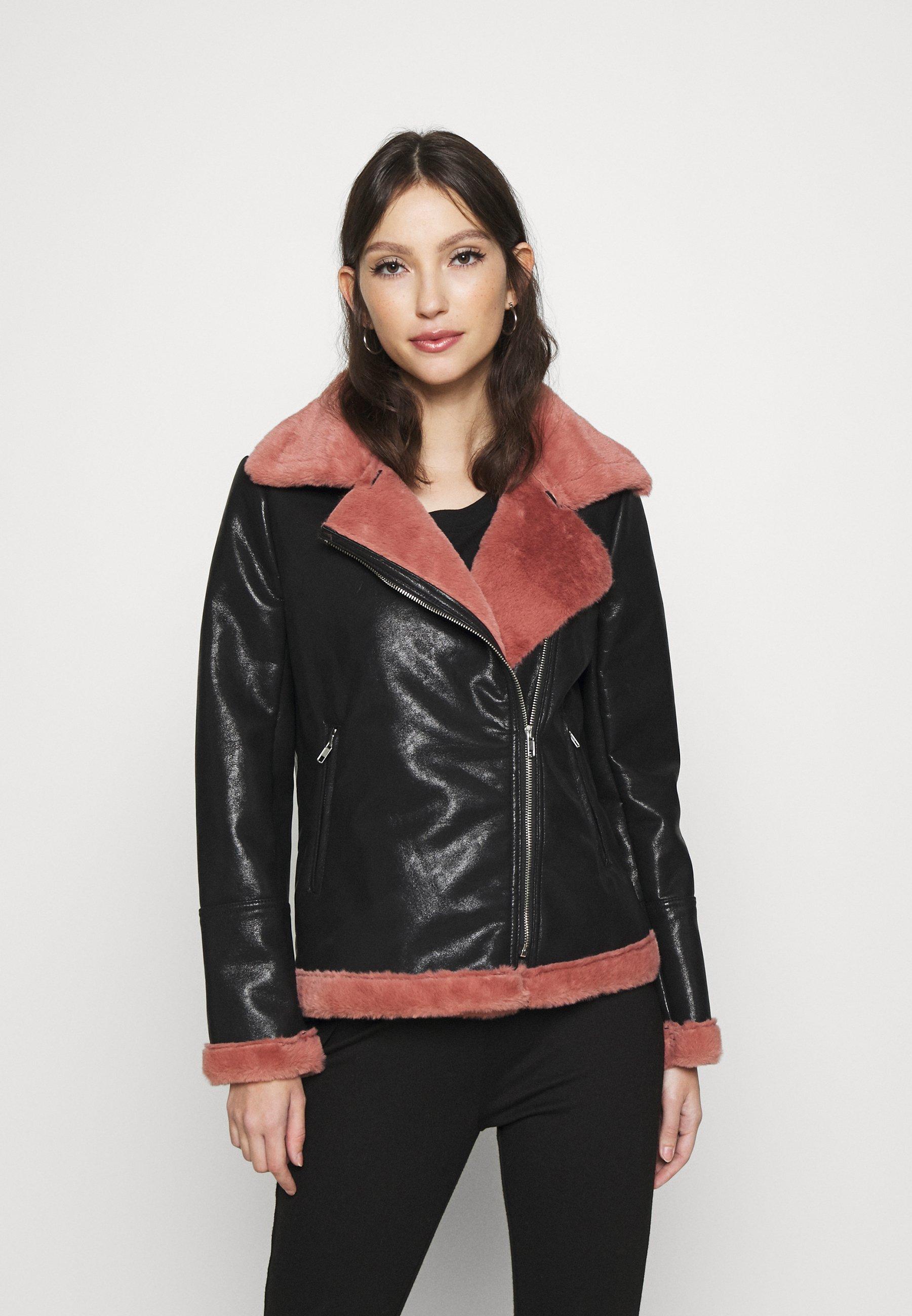 Women BIKER JACKET WITH LONG SLEEVES - Light jacket