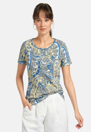 T-shirt con stampa - gelb/multicolor