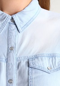 Vila - Button-down blouse - light blue denim - 3