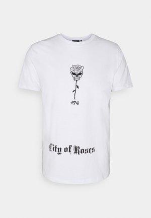 SKULL ROSE TEE - Print T-shirt - white