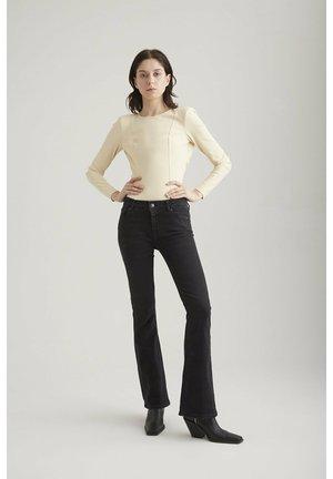 COJ - LAURA  - Bootcut jeans - black vintage