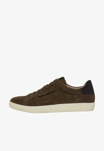 SHEER LOW TOP LACE UP - Trainers - dark khaki