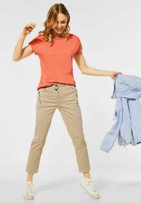 Cecil - Basic T-shirt - orange - 1