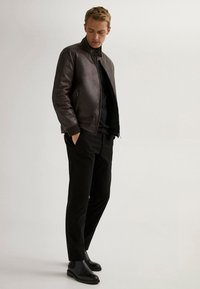Massimo Dutti - Faux leather jacket - brown - 1