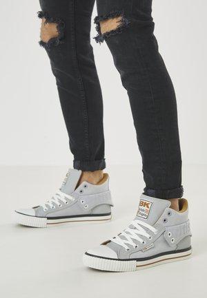 ROCO - Höga sneakers - lt grey/cognac