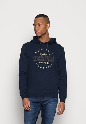 JORSURFACE BRANDING HOOD - Sweatshirt - navy