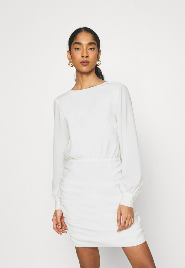 OPEN BACK RUCHE DRESS - Cocktail dress / Party dress - offwhite