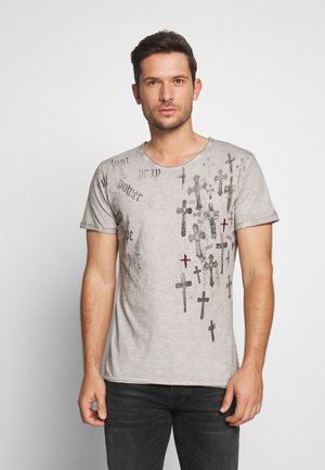 PRAYER ROUND - T-Shirt print - silver