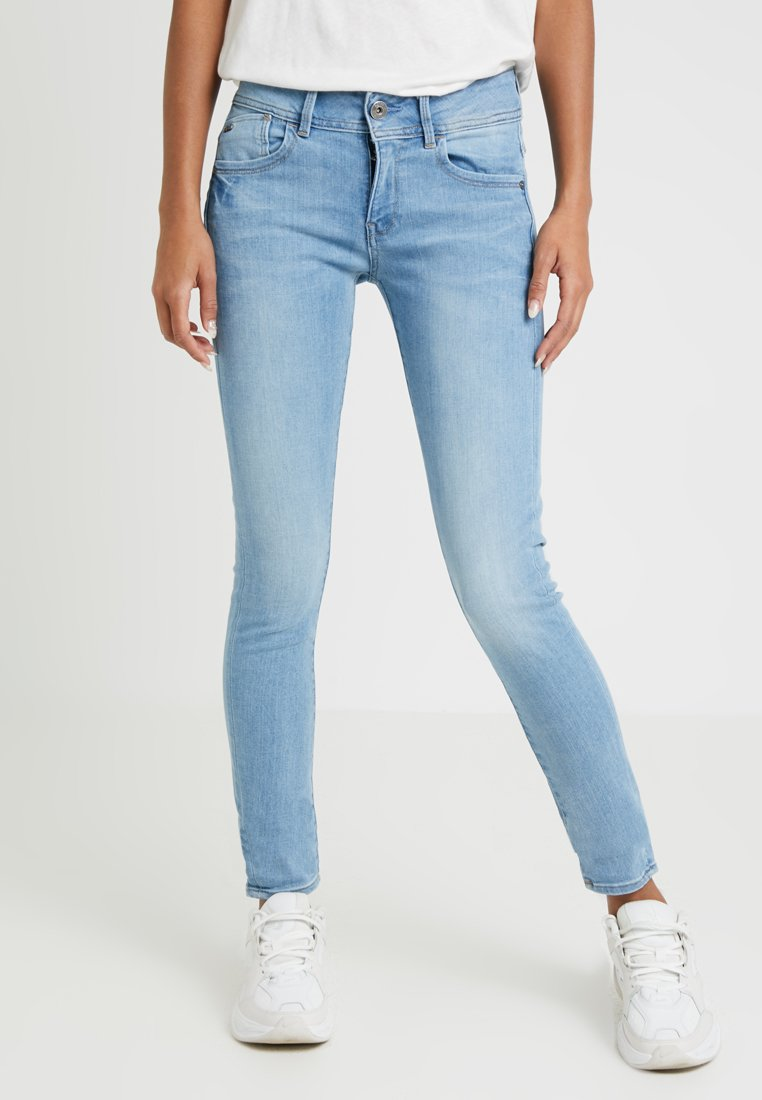 G-Star - LYNN MID SKINNY - Jeans Skinny Fit - neutro stretch denim