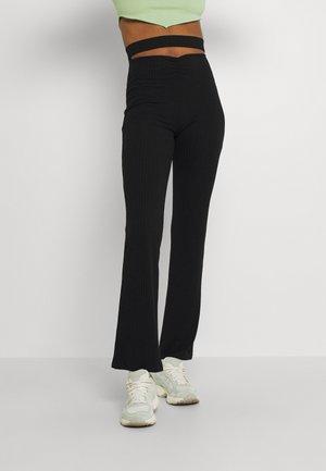 WAIST FOCUS PANTS - Trousers - black