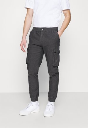 ABEL PANTS - Cargobyxor - grey
