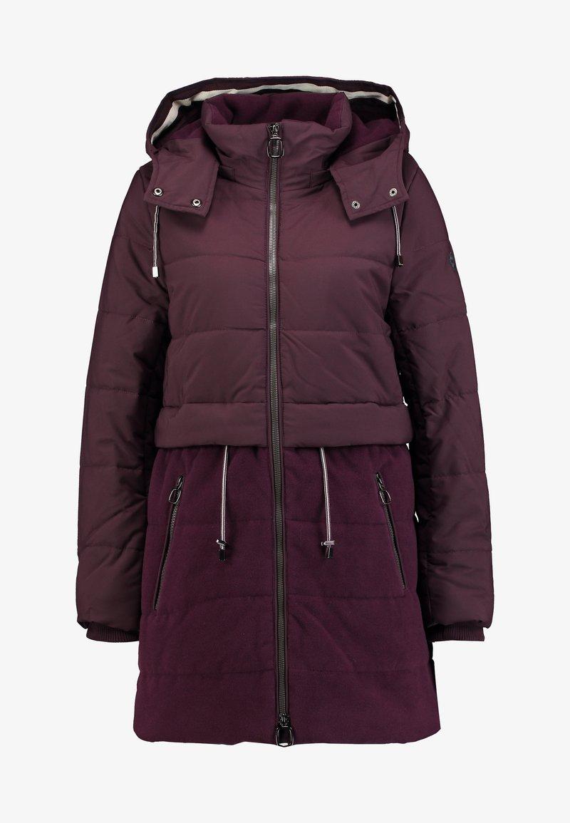 Esprit FABRIC MIX COAT - Wintermantel - bordeaux red/bordeaux DgAFZl
