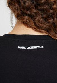KARL LAGERFELD - IKONIK  - Print T-shirt - black - 5