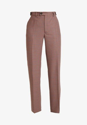 PHILIBERT CHECK - Trousers - camel