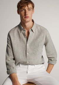 Massimo Dutti - Shirt - light grey - 3